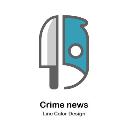 knife Icon In Flat Color Design Vector Illustration