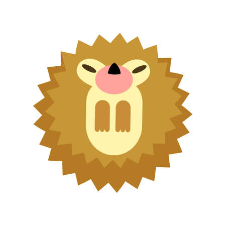 Puffy hedgehog vector illustration in flat color design