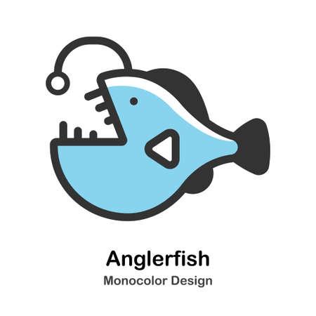 Anglerfish Icon In Monocolor Design Vector Illustration