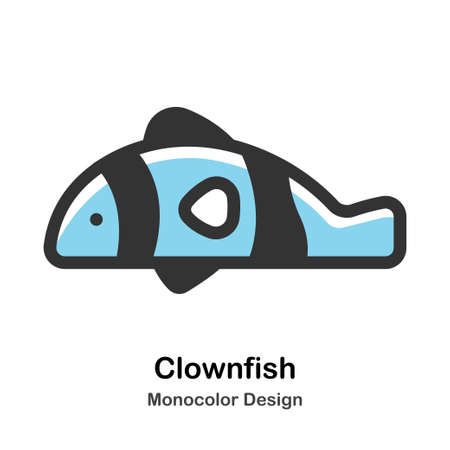 Clownfish Monocolor vector illustration