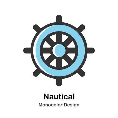 Helm Monocolor vector illustration