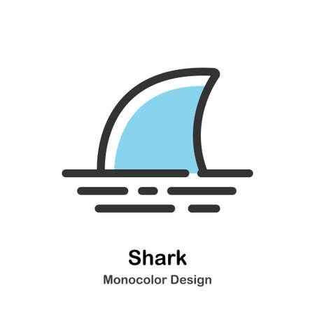 Shark fin Monocolor vector illustration 일러스트
