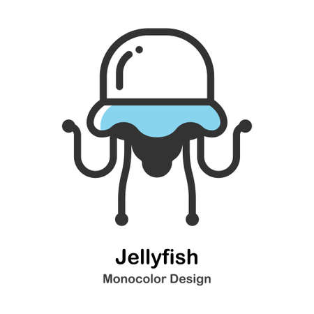 Jellyfish Monocolor vector illustration 일러스트