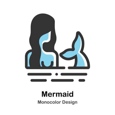 Mermaid Monocolor vector illustration