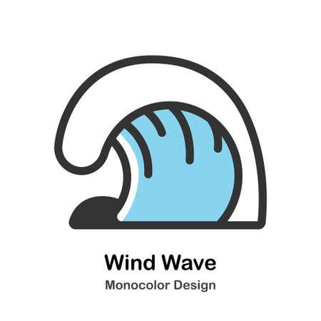 Wind wave Monocolor vector illustration