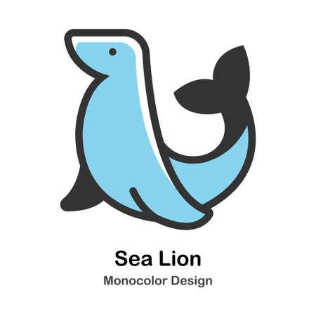 Sea Lion Monocolor vector illustration