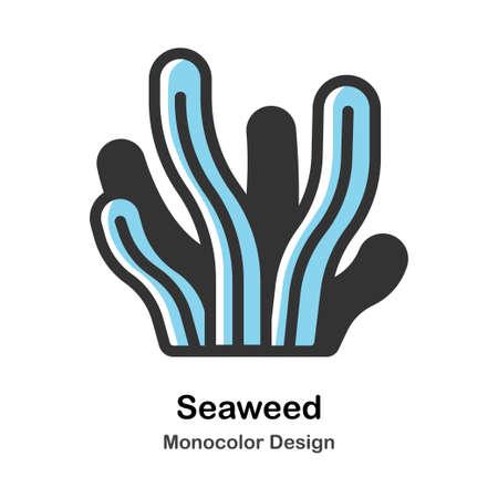 Seaweed Monocolor vector illustration 일러스트