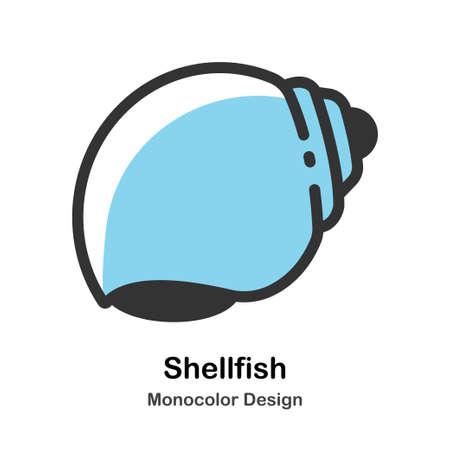 Shellfish Icon In Monocolor Design Vector Illustration Standard-Bild - 106909363