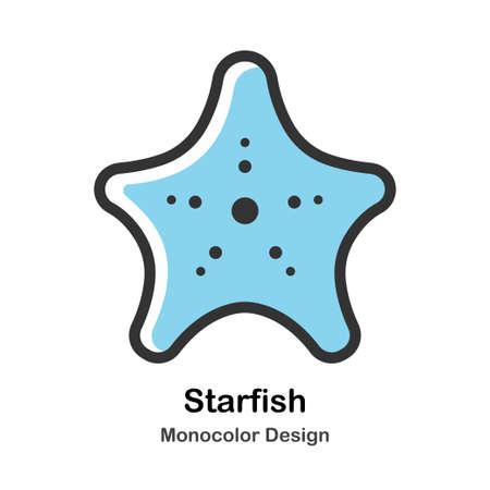 Starfish Monocolor vector illustration