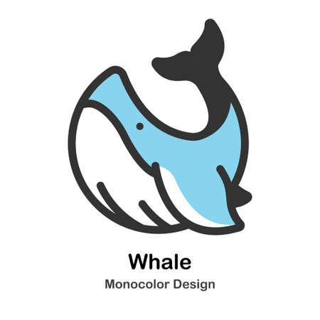 Whale Icon In Monocolor Design Vector Illustration