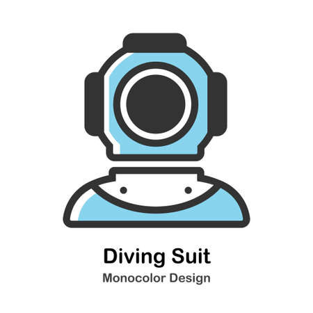 Ancient Diving Suit Icon In Monocolor Design Vector Illustration