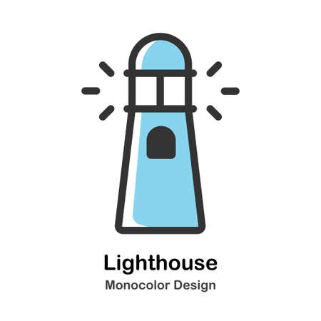 Lighthouse Monocolor vector illustration