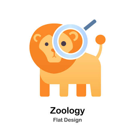 Zoology Flat vector Illustration Çizim
