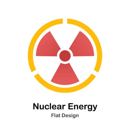 Radioactive symbol Flat vector Illustration Stock Illustratie