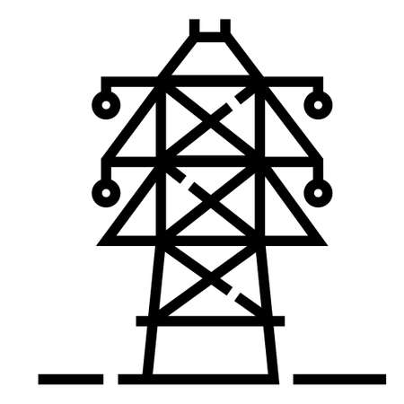 Electric pole vector illustration in line stroke design