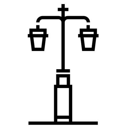 Street light vector illustration in line stroke design
