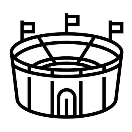 A stadium vector illustration in line stroke design 向量圖像