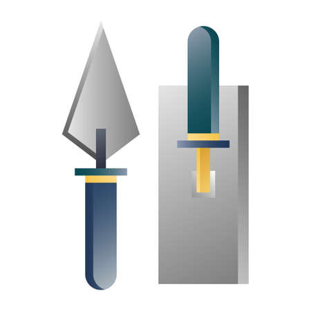 A trowel vector illustration in gradient design