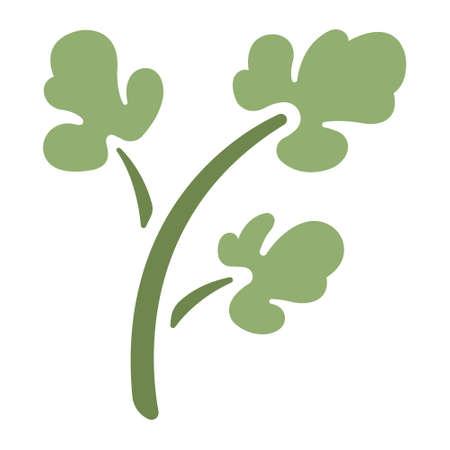 Green parsley icon in flat color design vector illustration Векторная Иллюстрация