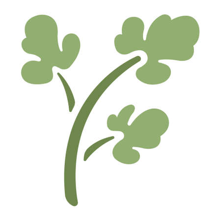 Green parsley icon in flat color design vector illustration