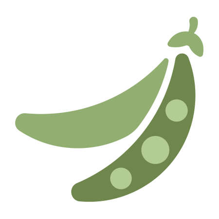 Beans icon in flat color design vector illustration