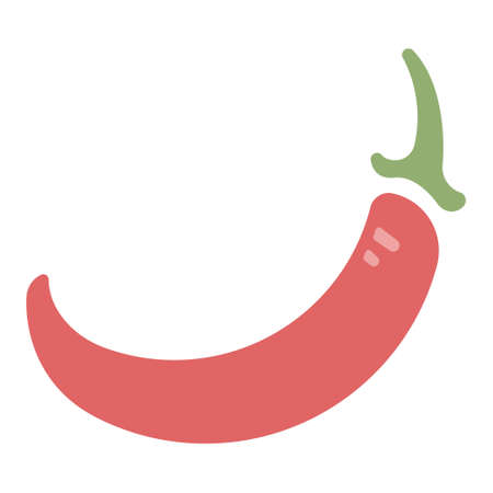 Red chili icon in flat color design vector illustration