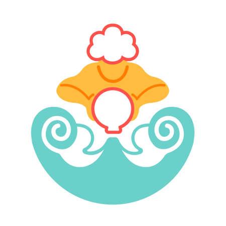 L'icône de porteur d'eau en illustration vectorielle de couleur plate design Vecteurs