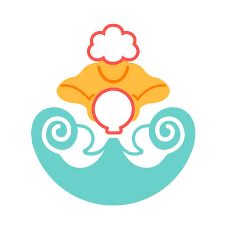 The Water Bearer icon in flat color design vector illustration Ilustração