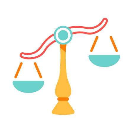 The Balance icon in flat color design vector illustration Ilustração