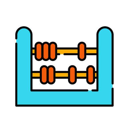 An abacus vector illustration in line color design Illustration