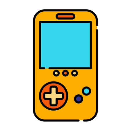 A gameboy vector illustration in line color design