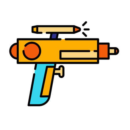 Gun toy vector illustration in line color design