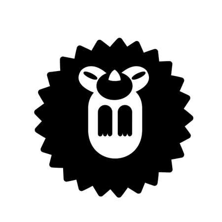 Puffy hedgehog vector illustration in solid color design