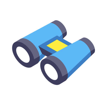 Telescope icon vector illustration in isometric design