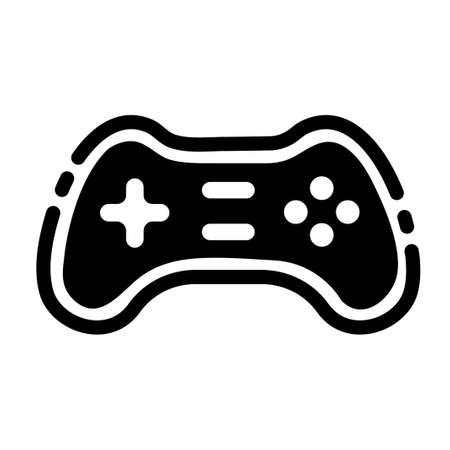 Game controller vector illustration in solid color design Ilustração