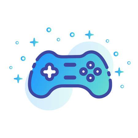 Game controller vector illustration in line color design