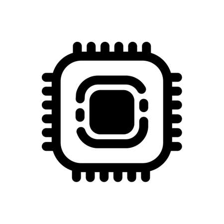 A chip vector illustration in solid color design Çizim