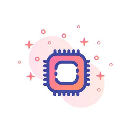 A chip vector illustration in line color design