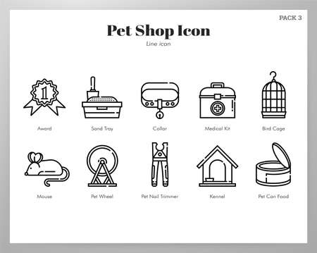 Pet shop vector illustration in line stroke design Vectores