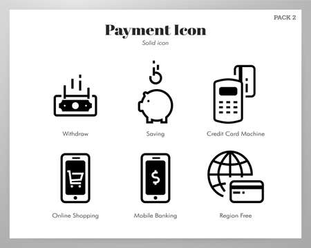 Payment vector illustration in solid color design