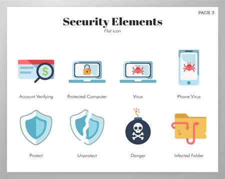 Security vector illustration in flat color design