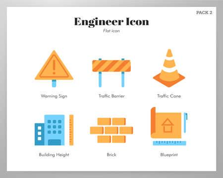 Engineer vector illustration in flat color design
