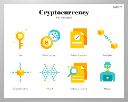 Cryptocurrency vector illustration in flat color design