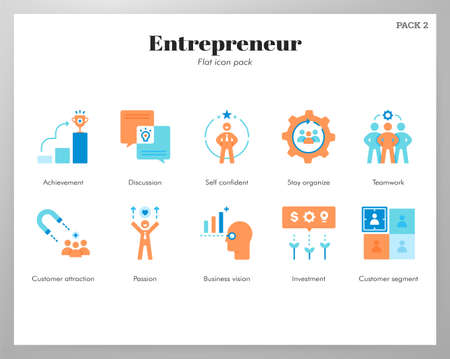 Entrepreneur vector illustration in flat color design
