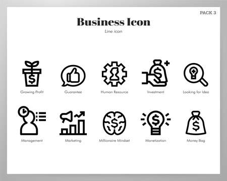 Business vector illustration in line stroke design