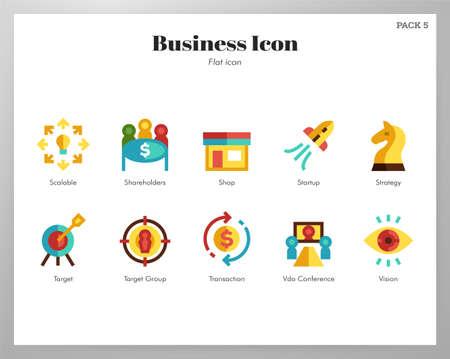 Business vector illustration in flat color design