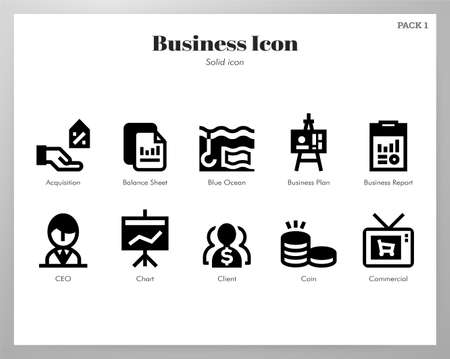 Business vector illustration in solid color design