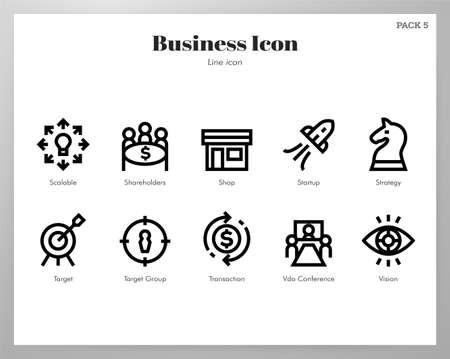 Business vector illustration in line stroke design