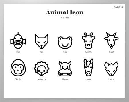 Animal vector illustration in line stroke design