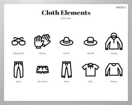 Cloth vector illustration in line stroke design Illustration